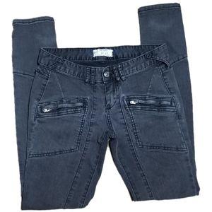 Free People Washed Black Moto Jeans. Size 27